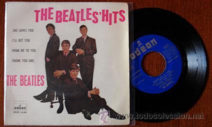 THE BEATLES HITS (Música - Discos de Vinilo - EPs - Pop - Rock Internacional de los 50 y 60)