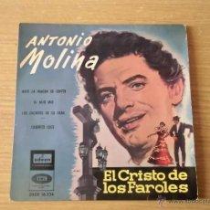 Discos de vinilo: ANTONIO MOLINA EL CRISTO DE LOS FAROLES. Lote 39697073