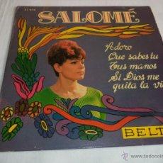 Discos de vinilo: SALOMÉ...EP-1968....ADORO + 3. Lote 39699383