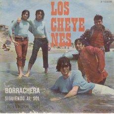 Discos de vinilo: LOS CHEYENES - BORRACHERA - SIGUIENDO AL SOL - SG SPAIN 1967 VG++ / EX . Lote 39703492