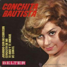Discos de vinilo: EP-CONCHITA BAUTISTA BELTER 51460-1964-JUGANDO CON MI CORAZON. Lote 39705645