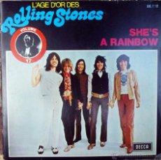 Discos de vinilo: ROLLING STONES. SHE'S A RAINBOW/ CITADEL. (1967-69) DECCA (L'AGE D'OR. VOL 17), BELGIUM 1975 SINGLE . Lote 39712630