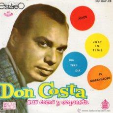 Discos de vinilo: DON COSTA CON SUS COROS Y ORQUESTA, EP, ADIOS + 3, AÑO 1961. Lote 39716532