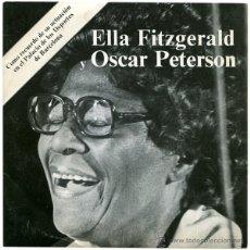Discos de vinilo: ELLA FITZGERALD / OSCAR PETERSON LIVE - SN SPAIN 1975 - VERVE 28 14 029. Lote 39719234