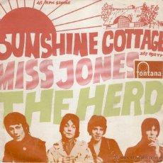 Discos de vinil: THE HERD - SUNSHINE COTTAGE - MISS JONES - SG SPAIN 1968 VG+ / VG++. Lote 39721132