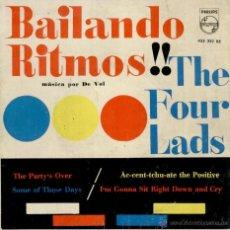 Discos de vinilo: THE FOUR LADS - BAILANDO RITMOS - THE PARTY'S OVER + 3 - EP SPAIN 1961 VG++ / VG++. Lote 40968224