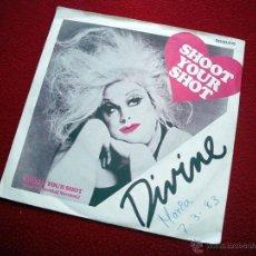 Discos de vinilo: DIVINE - SHOOT YOUR SHOT SINGLE VINILO 45 RPM. Lote 39733797