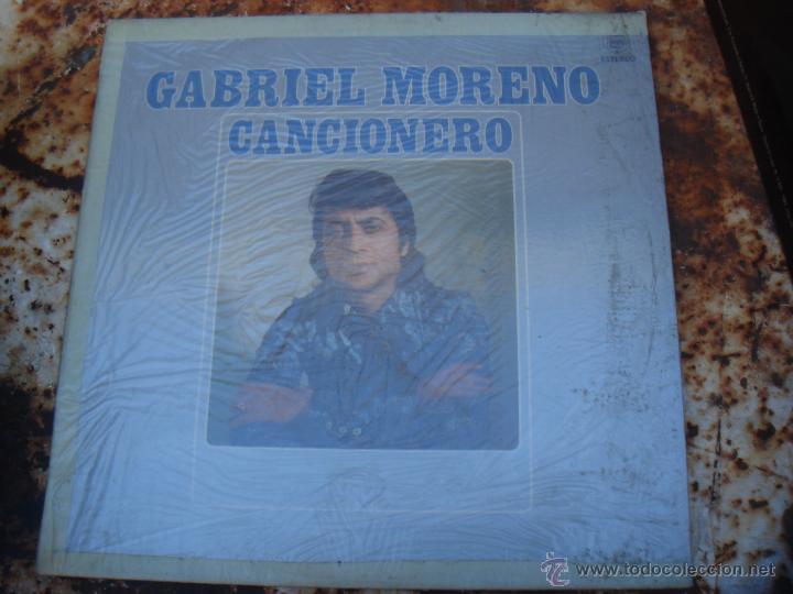 LP GABRIEL MORENO. CANCIONERO (Música - Discos - LP Vinilo - Flamenco, Canción española y Cuplé)