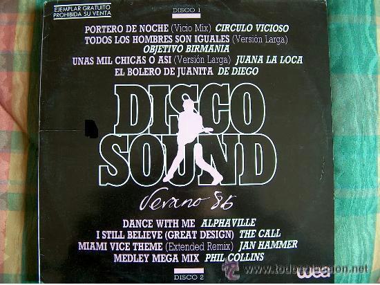 DISCO SOUND VERANO 86 / DOBLE LP, PROMOCIONAL ESPAÑOL, WEA RECORDS 1985 !! TODO EXC (Música - Discos - LP Vinilo - Grupos Españoles de los 90 a la actualidad)