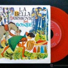 Discos de vinilo: LA BELLA DURMIENTE DEL BOSQUE.TEATRO INVISIBLE RADIO NACIONAL DE ESPAÑA,RNE. EP VINILO DE COLOR ROJO. Lote 39743383