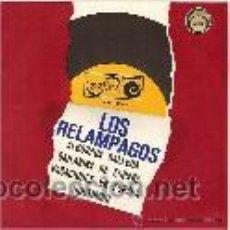 Discos de vinilo: LOS RELAMPAGOS EP SELLO ZAFIRO AÑO 1966. Lote 39727797