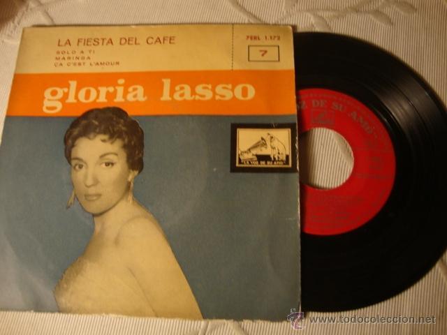 DISCO SINGLE ORIGINAL VINILO EP GLORIA LASSO (Música - Discos de Vinilo - EPs - Solistas Españoles de los 50 y 60)
