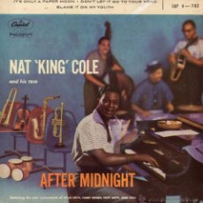 Discos de vinilo: NAT KING COLE AND HIS TRIO, EP, BLAME IT ON MY YOUTH + 2, AÑO 19?? MADE IN FRANCE. Lote 39754904
