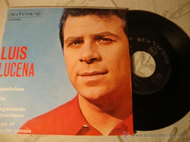 DISCO SINGLE ORIGINAL EP LUIS LUCINA (Música - Discos de Vinilo - EPs - Solistas Españoles de los 50 y 60)