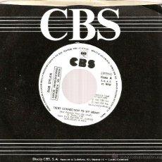 Discos de vinilo: SG PROMO BOB DYLAN : TIGHT CONNECTION TO MY HEART. Lote 39761072