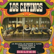Discos de vinilo: CATINOS, LOS, EP, LA BALADA DE BONNIE Y CLYDE + 3, AÑO 1968. Lote 39762584