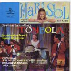 Discos de vinil: MARISOL CANCIONES DE LA PELICULA TOMBOLA EP SELLO ZAFIRO AÑO 1962. Lote 39773407
