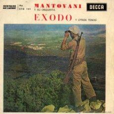 Discos de vinilo: MANTOVANI Y SU ORQUESTA, EP, EXODO + 3, AÑO 1961. Lote 39776381