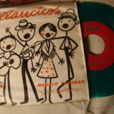 Discos de vinilo: RARO DISCO SINGLE COLOR VERDE ORIGINAL EP MANOLO ESCOBARVILLANCOS. Lote 39777145