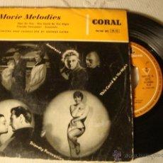 Discos de vinilo: ANTIGUO DISCO SINGLE ORIGINAL EP AÑOS 50/60 BANDAS SONORAS PELICULAS MOVIE MELODIES. Lote 39781782