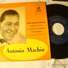 Discos de vinilo: ANTIGUO DISCO SINGLE ORIGINAL EP AÑOS 50/60 ANTONIO MACHIN. Lote 39782167