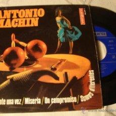 Discos de vinilo: ANTIGUO DISCO SINGLE ORIGINAL EP AÑOS 50/60 ANTONIO MACHIN. Lote 39782218