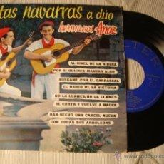 Discos de vinilo: ANTIGUO DISCO SINGLE ORIGINAL EP AÑOS 50/60 JOTAS HERMANOS ANOZ. Lote 39782645