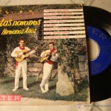 Discos de vinilo: ANTIGUO DISCO SINGLE ORIGINAL EP AÑOS 50/60 JOTAS HERMANOS ANOZ. Lote 39782656