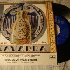 Discos de vinilo: ANTIGUO DISCO SINGLE ORIGINAL EP AÑOS 50/60 JOTAS NAVARRA HERMANAS FLAMARIQUE. Lote 39782689