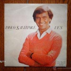Discos de vinilo: PAOLO SALVATORE - VEN + CERCA DE TÍ . Lote 39806605