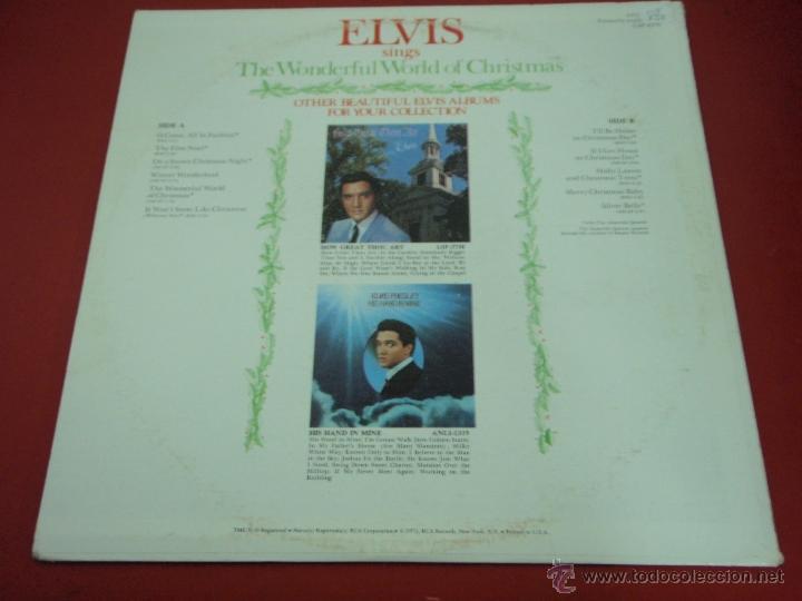 Discos de vinilo: ELVIS PRESLEY ( ELVIS sings 'THE WONDERFUL WORLD OF CHRISTMAS ) LP33 USA-1971 RCA AN L1-1936 - Foto 2 - 23385911