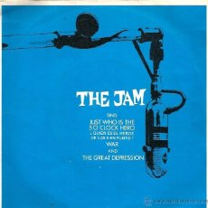 Discos de vinilo: EP THE JAM ( PAUL WELLER ) : JUST WHO IS THE SO CLOCK HERO + 2 . Lote 39785521