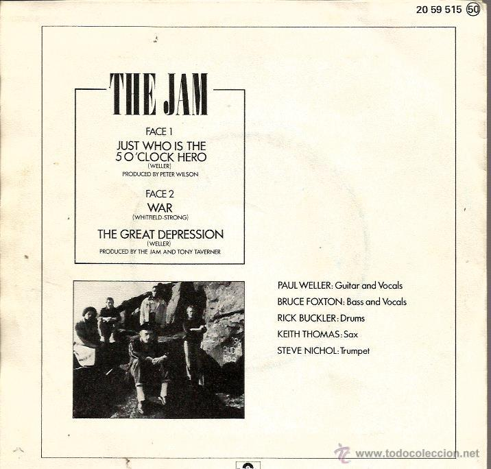Discos de vinilo: EP THE JAM ( PAUL WELLER ) : JUST WHO IS THE SO CLOCK HERO + 2 - Foto 2 - 39785521