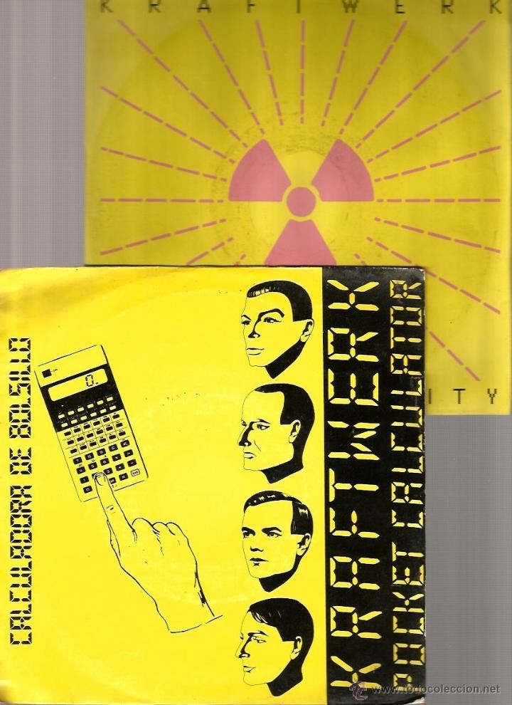 2 SINGLES KRAFTWERK : POCKET CALCULATOR + RADIOACTIVITY (Música - Discos - Singles Vinilo - Electrónica, Avantgarde y Experimental)