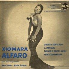 Discos de vinilo: EP XIOMARA ALFARO ( CON LAS ORQUESTAS DE BEBU VALDES & ADOLFO GUZMAN ) : LAMENTO BORICANO . Lote 39790614
