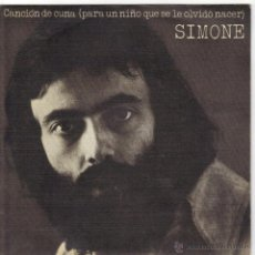 Discos de vinilo: SIMONE SINGLE SELLO CBS AÑO 1974. Lote 39794140