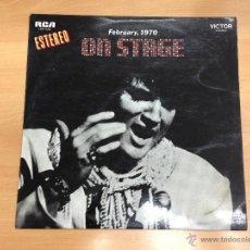 Discos de vinilo: LP ELVIS PRESLEY ON STAGE FEBRUARY 1970 EDITADO EN ESPAÑA . Lote 39801272
