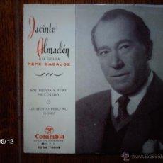 Discos de vinilo: JACINTO ALMADEN , A LA GUITARRA PEPE BADAJOZ - SOY PIEDRA Y PERDI MI CENTRO + LO SIENTO PERO NO . Lote 39810908