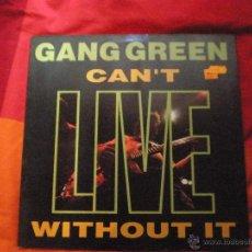 Discos de vinilo: GANG GREEN -CAN'T LIVE WITHOUT IT LP1990 HARDCORE PUNK. Lote 39819144