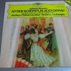 Discos de vinilo: LP BERLINER PHILHARMONIKER HERBERT VON KARAJAN, JOHANN STRAUSS . Lote 39965083