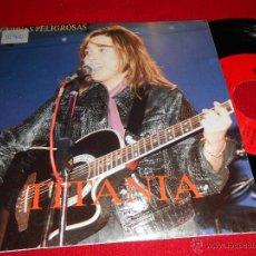 Discos de vinilo: TITANIA CURVAS PELIGROSAS / TIENES UN DON 7 SINGLE 1992 LA HUELLA PROMO. Lote 39833340