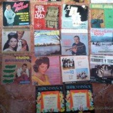Discos de vinilo: LOTE 18 SINGLES VARIADOS DE LOS AÑOS 50 Y 60 MÁS ALBUM. Lote 39836440