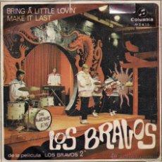 Discos de vinilo: LOS BRAVOS : BRING A LITTLE LOVIN' / MAKE IT LAST. 45 RPM, COLUMBIA, 1967. Lote 39843916