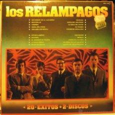 Discos de vinilo: LOS RELAMPAGOS. LOS RELAMPAGOS: 20 EXITOS. PUZZLE- ZAFIRO, ESP. 1981 (2 LP'S COMO NUEVOS). Lote 50679489