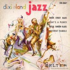 Discos de vinilo: DIXIELAND JAZZ, EP, BASIN STREET BLUES + 3, AÑO 1959. Lote 39853076