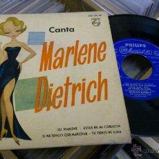 Discos de vinilo: MARLENE DIETRICH CANTA LILI MARLENE ESTAS EN MI CORAZON EP DISCO DE VINILO 7 PULGADAS. Lote 39859628