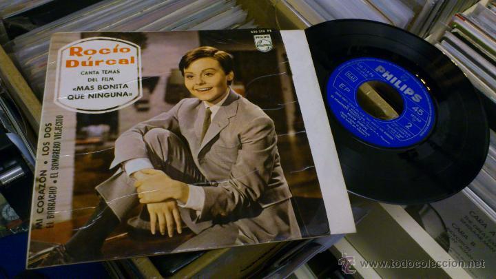 Discos de vinilo: Rocio durcal canta temas del film Mas bonita que ninguna Ep Disco de vinilo 7 pulgadas - Foto 2 - 39859762
