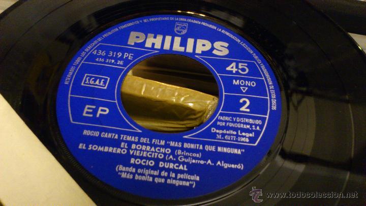 Discos de vinilo: Rocio durcal canta temas del film Mas bonita que ninguna Ep Disco de vinilo 7 pulgadas - Foto 3 - 39859762