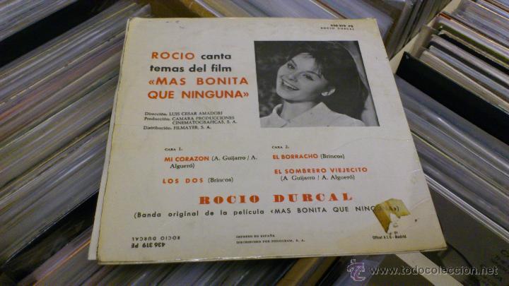 Discos de vinilo: Rocio durcal canta temas del film Mas bonita que ninguna Ep Disco de vinilo 7 pulgadas - Foto 5 - 39859762