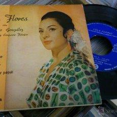 Discos de vinilo: LOLA FLORES EP DISCO DE VINILO CON ANTONIO GONZALEZ DESPUES EL MARISQUERO TE LO JURO YO COLUMBIA. Lote 39859834